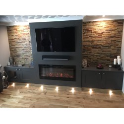 Stunning 50 inch TruFlame Fire in a custom install by one of our customers.
